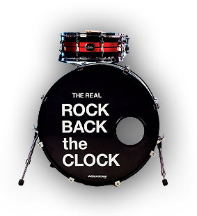 The Real Rock Back the Clock - drum kit